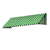 Awntech 172.5-in Wide x 36-in Projection Stripe Slope WindowDoor Awning