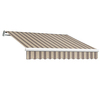 Awntech 16-ft Wide x 10-ft 2-in Projection Taupe Multi Striped Slope Patio Retractable Motorized Awning
