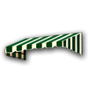 Awntech 52.5-in Wide x 42-in Projection Stripe Slope WindowDoor Awning