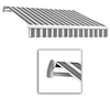 Awntech 14-ft Wide x 10-ft 2-in Projection Navy/Gray/White Striped Slope Patio Retractable Manual Awning