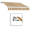 Awntech 14-ft Wide x 10-ft 2-in Projection Tan/Terra Cotta Striped Slope Patio Retractable Manual Awning