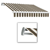 Awntech 14-ft Wide x 10-ft 2-in Projection Burgundy/Forest/Tan Striped Slope Patio Retractable Remote Control Awning