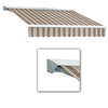 Awntech 14-ft Wide x 10-ft 2-in Projection Brown/White Striped Slope Patio Retractable Remote Control Awning