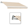 Awntech 18-ft Wide x 10-ft 2-in Projection Tan/White Striped Slope Patio Retractable Manual Awning