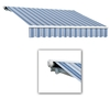 Awntech 16-ft Wide x 10-ft 2-in Projection Blue/Gray/White Striped Slope Patio Retractable Remote Control Awning