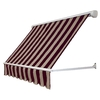 Awntech 60-in Wide x 24-in Projection Stripe Open Slope Window Retractable Manual Awning