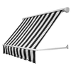 Awntech 120-in Wide x 24-in Projection Stripe Open Slope Window Retractable Manual Awning