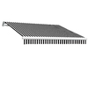 Awntech 120-in Wide x 96-in Projection Stripe Slope Patio Retractable Manual Awning