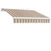 Awntech 192-in Wide x 120-in Projection Stripe Slope Patio Retractable Manual Awning