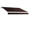 Awntech 168-in Wide x 120-in Projection Brown Solid Slope Patio Retractable Remote Control Awning