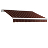 Awntech 192-in Wide x 120-in Projection Burgundy Pin-Stripe Slope Patio Retractable Remote Control Awning