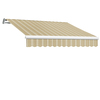 Awntech 216-in Wide x 120-in Projection Stripe Slope Patio Retractable Remote Control Awning