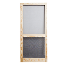 Screen Tight Liberty Pressure Treated Natural Wood Screen Door (Common: 36-in x 81-in; Actual: 36-in x 81-in)