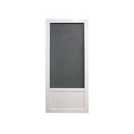 Security screen doors metal security metal retractable for Vinyl storm doors