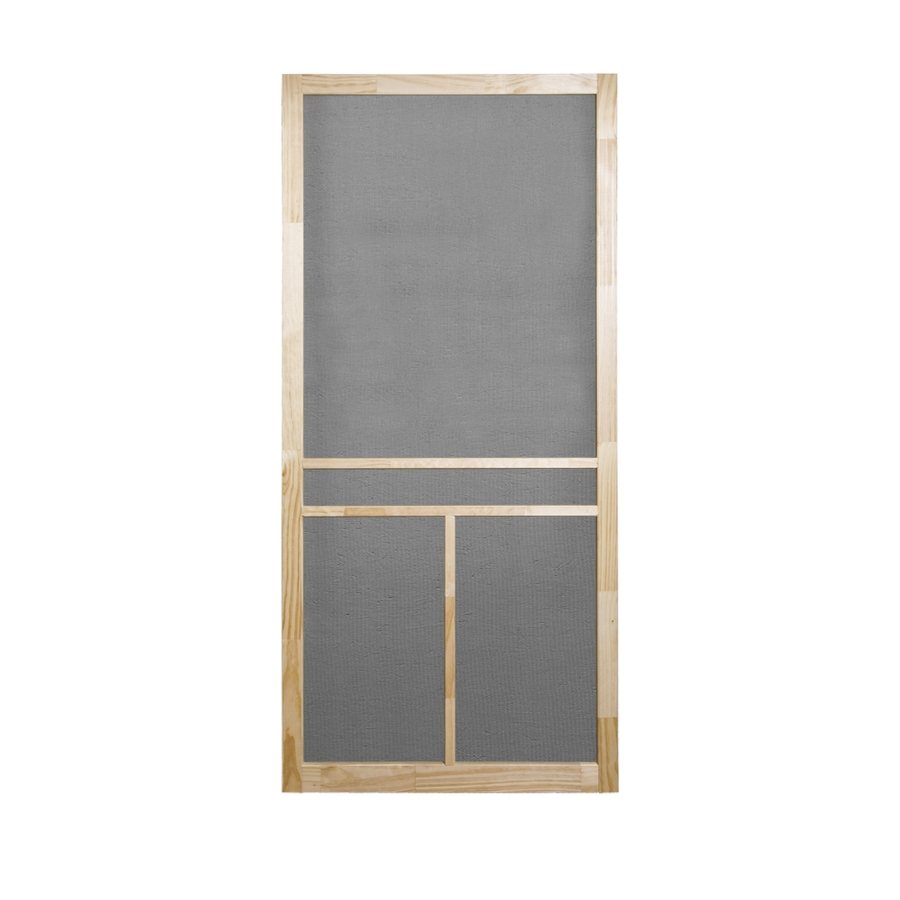 shop screen tight t bar natural wood screen door common