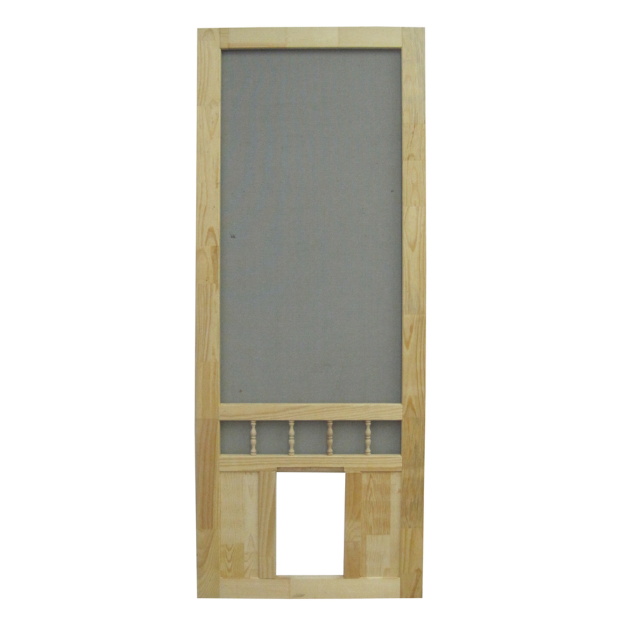 Shop screen tight southport 36 in natural wood screen door for Wood screen doors