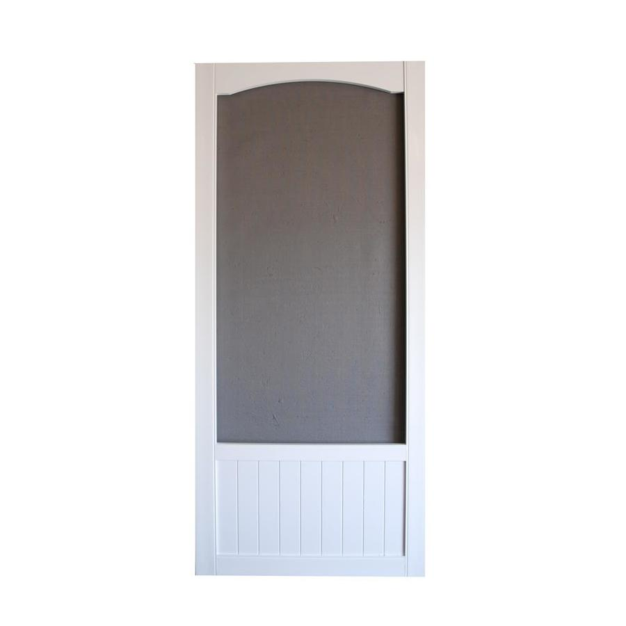Shop Screen Tight Vinyl Screen Door (common 32in X 80in. Electric Garage Door Opener. Folding French Doors. Garage Door Coil Spring Replacement Cost. Stainless Steel Bbq Doors. Angled Glass Shower Doors. Garage Panels. Door Canopy. Oval Door Knobs