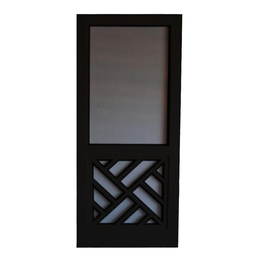 Shop Screen Tight Chippendale Black Wood Screen Door