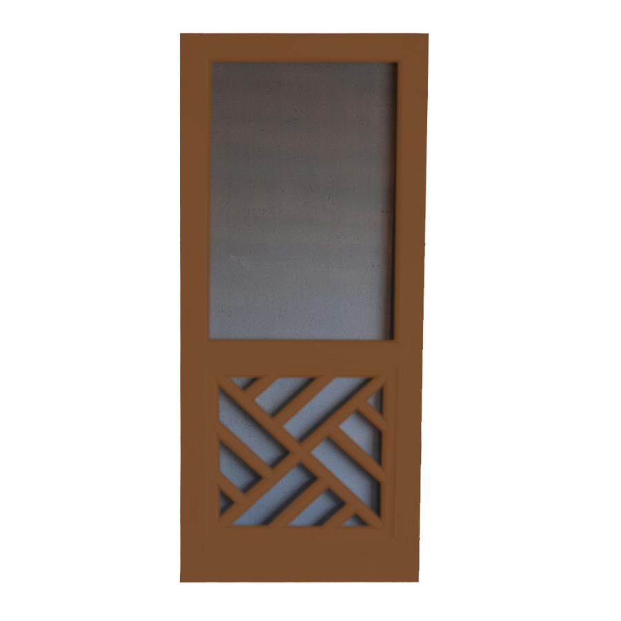 Security Screen Doors: Wooden Security Screen Door