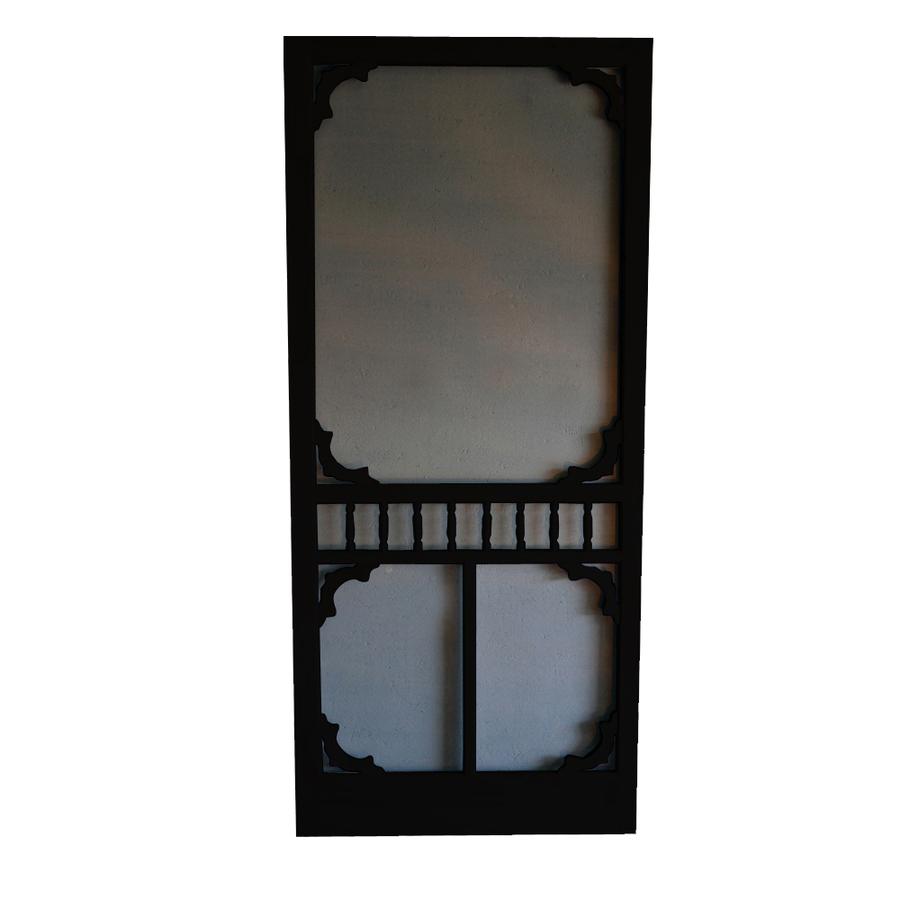Shop Screen Tight Colonial Black Wood Screen Door (Common: 32-in x 80 ...