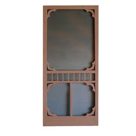 shop screen tight colonial russet wood screen door common