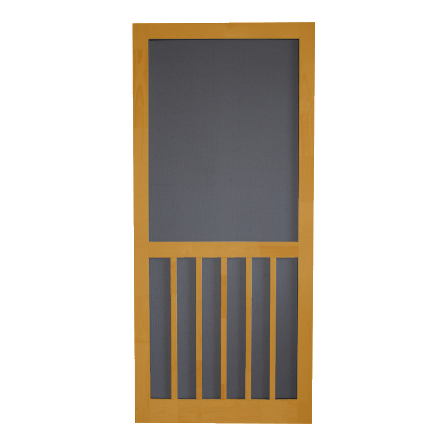 Shop screen tight 5 bar cedar naturaltone wood screen door for Wood screen doors