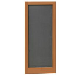 shop screen tight meadow redwood wood screen door common 30 in x 80 in actual 30 in x 80 in. Black Bedroom Furniture Sets. Home Design Ideas