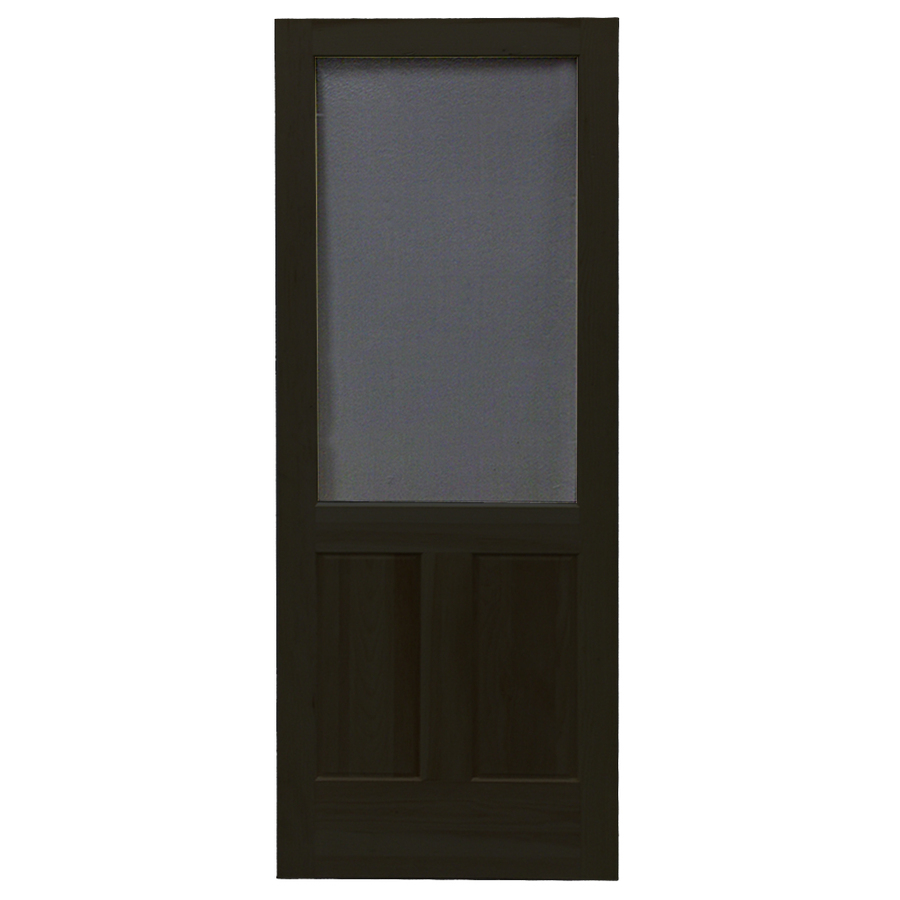 Shop screen tight pioneer black wood screen door common for Wood screen doors