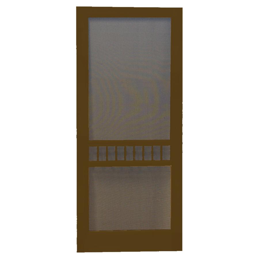 Shop screen tight arbor oxford brown wood screen door for Wood screen doors