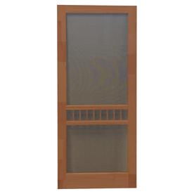 shop screen tight arbor russet wood screen door common