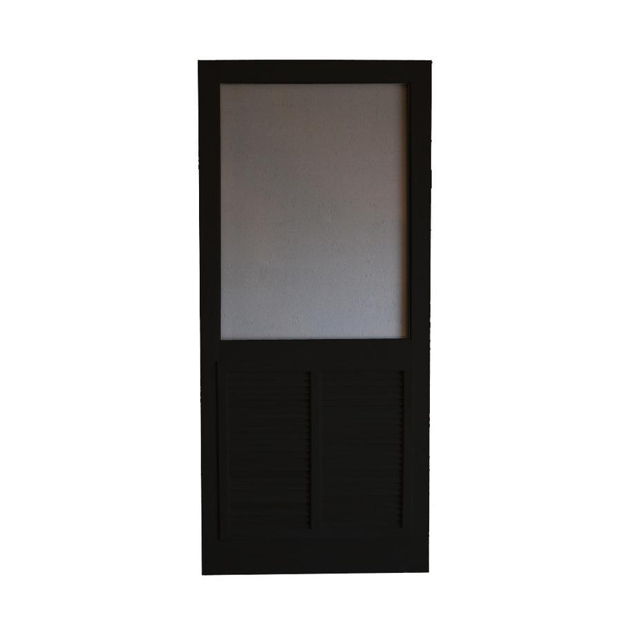 Black Screen Door : Shop screen tight ponderosa black wood door common