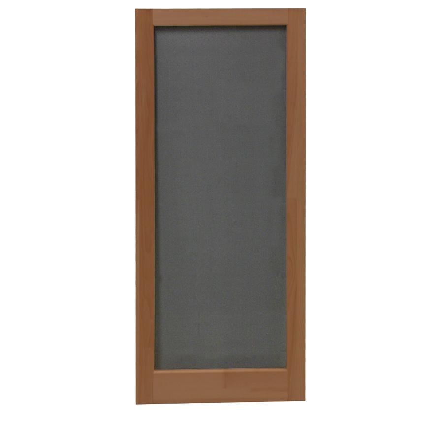 Shop screen tight meadow russet wood screen door common for Wood screen doors