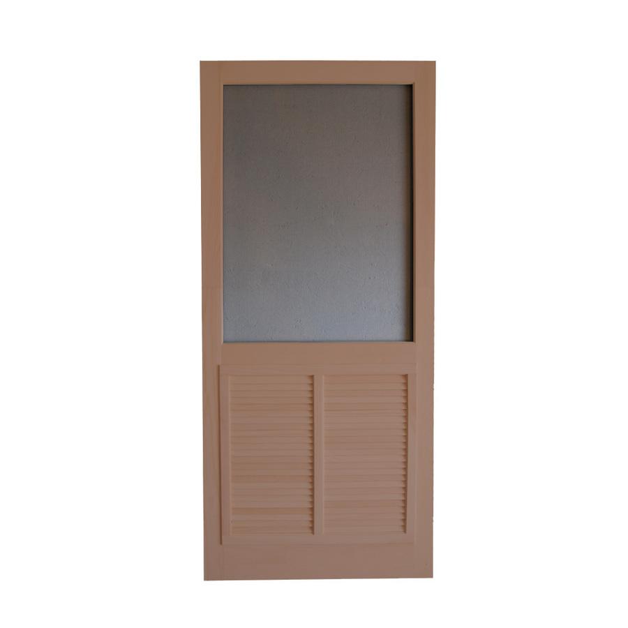 Wood doors 30 wood screen door for Screen door kit for french doors