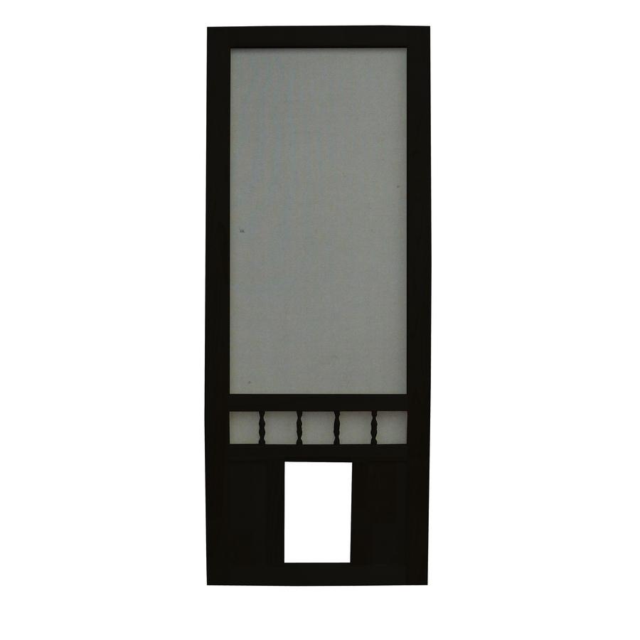 Southport 30 in black wood screen door with pet door at lowes com