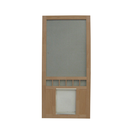 shop screen tight southport 30 in russet wood screen door