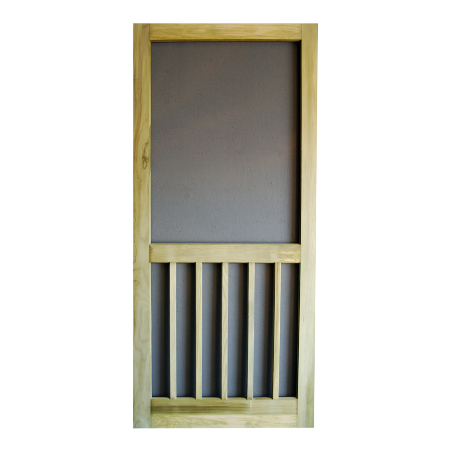 Shop screen tight timberline pressure treated natural wood for Lowes screen doors