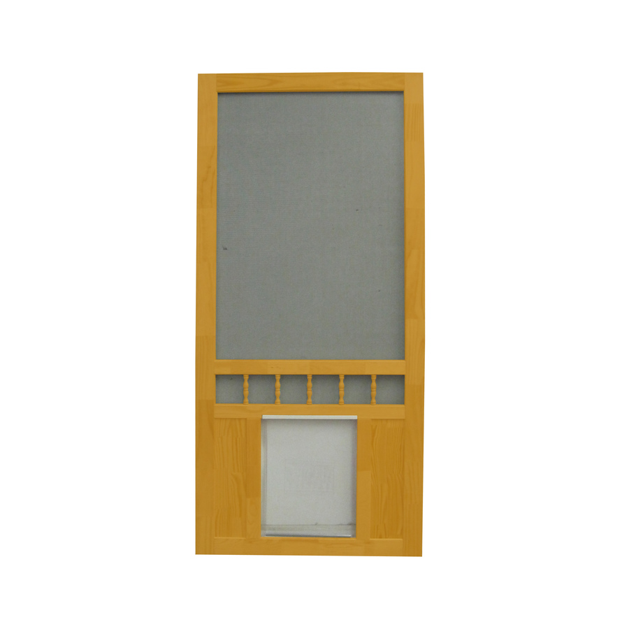 Shop screen tight southport 36 in cedar naturaltone wood for Lowes screen doors