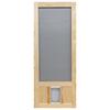 Screen Tight Chesapeake Wood Wood Hinged Screen Door with Pet Door (Common: 80-in; Actual: 80-in)