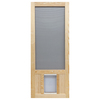 Screen Tight Chesapeake Wood Wood Hinged Screen Door with Pet Door (Common: 36-in x 80-in; Actual: 36-in x 80-in)