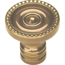 Hickory Hardware 1-1/4-in Antique Brass Savannah Round Cabinet Knob