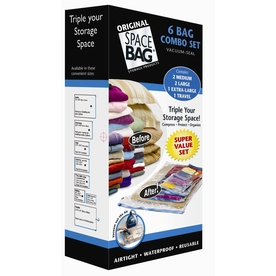 Space Bag 6-Count Plastic Storage Bags