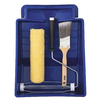 Blue Hawk 4-Piece Brush and Roller Paint Tray Kit