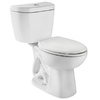 Niagara Conservation Stealth White 0.8-GPF (3.03-LPF) 12-in Rough-in WaterSense Round Pressure Assist 2-Piece Standard Height Toilet