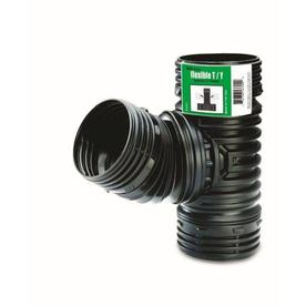 FLEX-Drain 4-in Flexible Corrugated T/Y Pipe Fitting