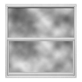 JELD-WEN 4100 Series Aluminum Single Pane Double Strength Replacement Single Hung Window (Rough Opening: 36.5-in x 37.625-in; Actual: 36-in x 37.375-in)