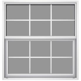 JELD-WEN 6100 Series Aluminum Single Pane Impact Replacement Single Hung Window (Rough Opening: 36.5-in x 37.625-in; Actual: 36-in x 37.375-in)