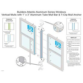 JELD-WEN 62&#034; White Mull Bar with T-Clip