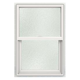 JELD-WEN V2500 Vinyl Double Pane Double Strength New Construction Single Hung Window (Rough Opening: 24-in x 36-in; Actual: 23.5-in x 35.5-in)