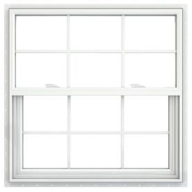 JELD-WEN V2500 Vinyl Double Pane Double Strength New Construction Single Hung Window (Rough Opening: 36-in x 36-in; Actual: 35.5-in x 35.5-in)