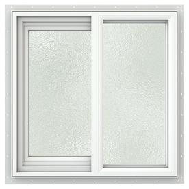 JELD-WEN V2500 Left-Operable Vinyl Double Pane Double Strength New Construction Sliding Window (Rough Opening: 24-in x 24-in; Actual: 23.5-in x 23.5-in)